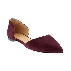 Banana Republic Suede D'Orsay Flats -NEVER WORN